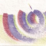 Om 9 original 7-x5-inch iridescent watercolor painting @ Pam Van Londen 2011