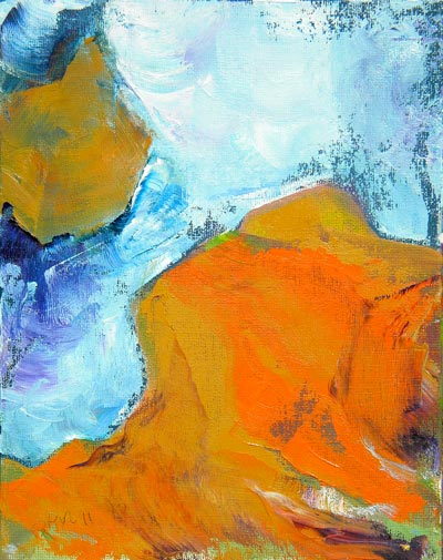 © Pam Van Londen 2010, Slot Canyon 3, oil on canvas panel, 8x10