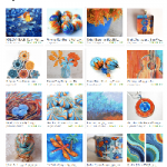 Etsy Blues and Oranges Treasury