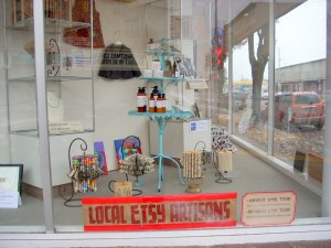 December Etsy Window Exhibit