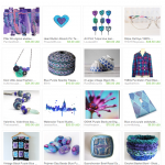 Blue Purple Teal Etsy Treasury
