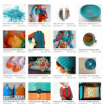 Fun Elements Turquoise Orange Etsy Treasury
