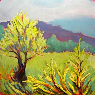 © Pam Van Londen 2010, Frazier Wetland 2, Oil on Clayboard, 8x8