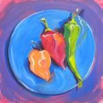 Salsa 10. © Pam Van Londen 2013. Oil on 8x8-inch claybord.