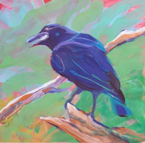 Crow in the Tree 2