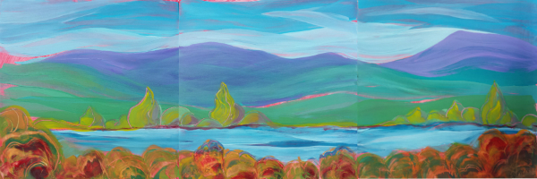 Valley Morning 25-26-27 Triptych