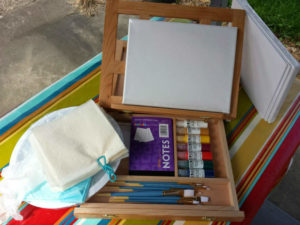 Supplies and easel to purchase for the Alla Prima Workshop.